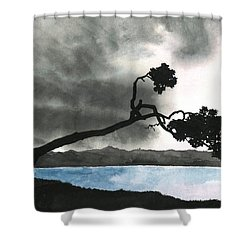 Lake Kussharo Shower Curtain