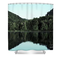 Lake Landscape Shower Curtain by France Laliberte