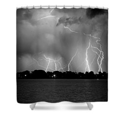 Lake Lightning Two Bw Shower Curtain by James BO  Insogna