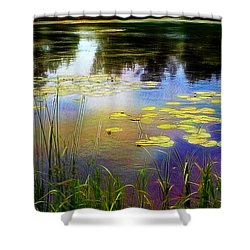 Lake Lilly Monet Style Shower Curtain by Louise Lavallee