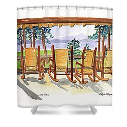 Lake Lodge Shower Curtain