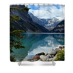 Lake Louise 2 Shower Curtain by Larry Ricker