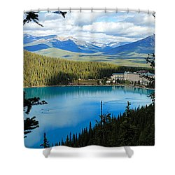 Lake Louise Chalet Shower Curtain