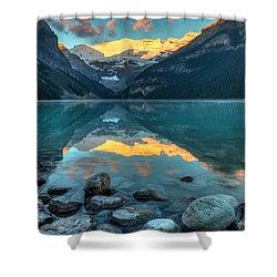 Lake Louise Sunrise Shower Curtain