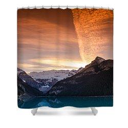 Lake Louise Sunset Shower Curtain