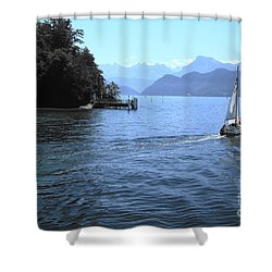 Lake Lucerne Shower Curtain by Therese Alcorn