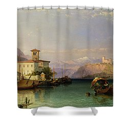 Lake Maggiore Shower Curtain by George Edwards Hering