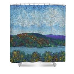 Lake Mahkeenac Shower Curtain
