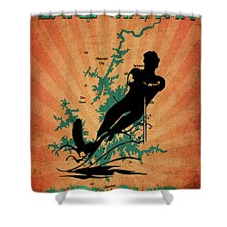 Lake Martin Surf Club Shower Curtain
