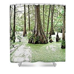 Lake Martin Swamp Shower Curtain by Scott Pellegrin