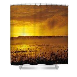Lake Massabesic - Auburn New Hampshire Usa Shower Curtain by Erin Paul Donovan