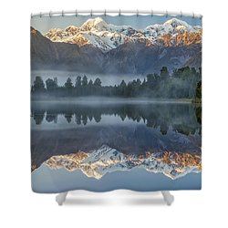 Lake Matheson Reflection 2 Shower Curtain
