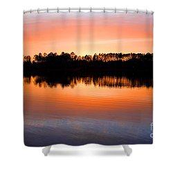 Lake Maumelle Sunset Shower Curtain