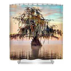 Lake Maurepas In Pastels Shower Curtain
