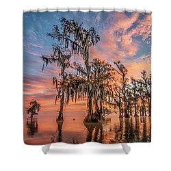 Lake Maurepas On Fire Shower Curtain