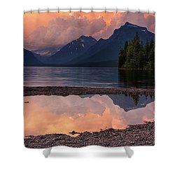 Lake Mcdonald Sunset Shower Curtain by Mark Kiver