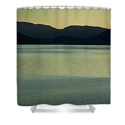 Lake Mcdonald Sunset Shower Curtain