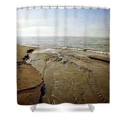 Lake Michigan And Pier Cove Creek  2.0 Shower Curtain