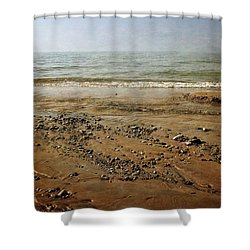 Lake Michigan And Pier Cove Creek  Shower Curtain