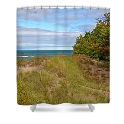 Lake Michigan Shore Shower Curtain