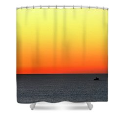 Shower Curtain featuring the photograph Lake Michigan Sunrise by Zawhaus Photography