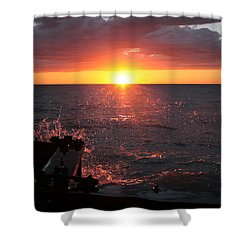 Shower Curtain featuring the photograph Lake Michigan Sunset by Bruce Patrick Smith