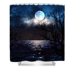 Lake Midnight Shower Curtain