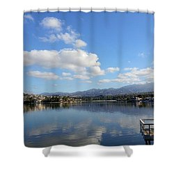 Lake Mission Viejo Cloud Reflections Shower Curtain