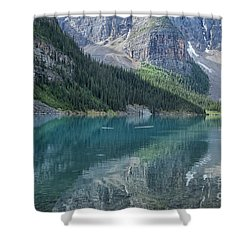 Shower Curtain featuring the photograph Lake Moraine by Patricia Hofmeester