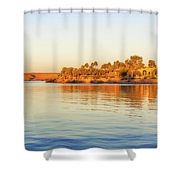 Lake Nasser In Abu Simbel Shower Curtain