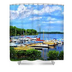 Lake Nockamixon Marina Shower Curtain