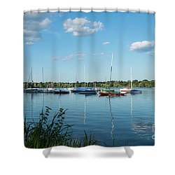 Lake Nokomis Minneapolis City Of Lakes Shower Curtain