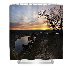 Lake Of The Ozarks Sunset Shower Curtain by Dennis Hedberg