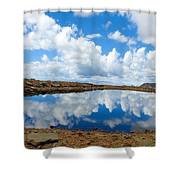 Lake Of The Sky Shower Curtain
