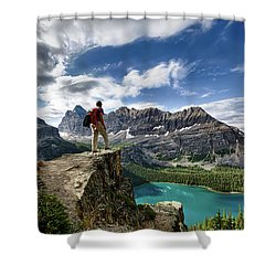 Lake O'hara Adventure Shower Curtain