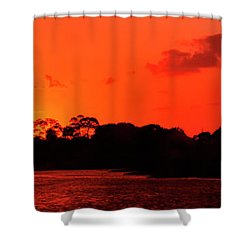Lake Osborne Sunset Shower Curtain
