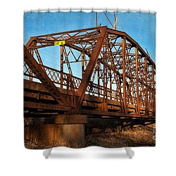 Lake Overholser Bridge Shower Curtain by Lana Trussell