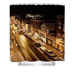Shower Curtain featuring the photograph Lake Placid New York - Main Street by Brendan Reals