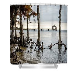 Lake Pontchartrain Uncropped Shower Curtain