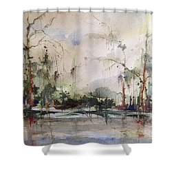 Lake Pontchartrain Yacht Club Mandeville Shower Curtain