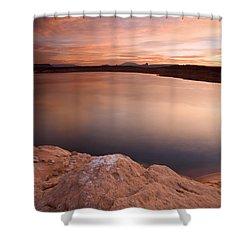 Lake Powell Dawn Shower Curtain by Mike  Dawson