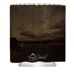 Shower Curtain featuring the photograph Lake Powell Stars by Brenda Jacobs