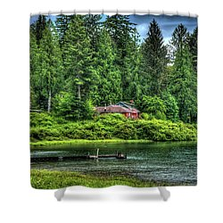 Lake Quinault 3 Shower Curtain by Richard J Cassato