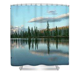 Lake Reflections Shower Curtain by Myrna Bradshaw
