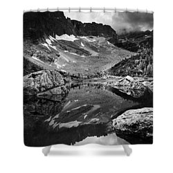 Shower Curtain featuring the photograph Lake Reflections by Yuri Santin