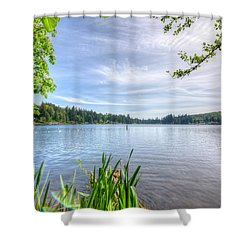 Lake Roesiger Shower Curtain