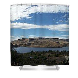 Lake Roosevelt At Keller Ferry Shower Curtain