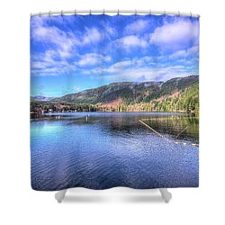 Shower Curtain featuring the photograph Lake Samish by Spencer McDonald