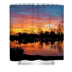 Lake Shangrila Shower Curtain