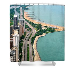 Lake Shore Dr . Chicago Shower Curtain